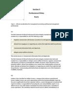 Section E Professional Ethics. P1