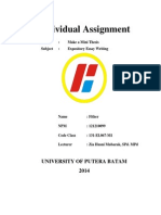 Individual Assignment ( Fither 121210099) Doc