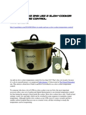 how to make and use a slow cooker temperature controller coffee maker wiring diagram re building a crock pot controller