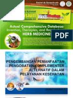 1 Pengembangan Pemanfaatan Pengobatan Komplementer Alternatif Dalam Pelayanan Kesehatan