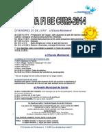 Programa Fi de Curs 2013-2014