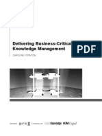 Delivering Business-Critical Knowledge Management Summary