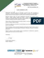 Carta de Presentación 2014 FA