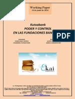 Kutxabank. PODER Y CONTROL EN LAS FUNDACIONES BANCARIAS