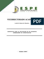 Instructivo Proyectos Integradores de Investigación