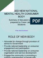 National Consumer Body for Australia