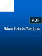 Materials Used in Sea Water System