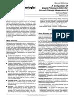 (TP0A014) a Comparison of Liquid Petroleum Meters for Custody Transfer Measurement