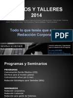Cursos y Talleres 2014 Silvina Scheiner Redacción Corporativa