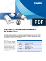 Combustion Components Equivalent to GE MS6001FA SULTZER 17 JUN
