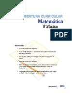Cobertura Curricular Matematica 8basico 2013