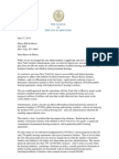 NYCHA Housing for Homeless Families Letter