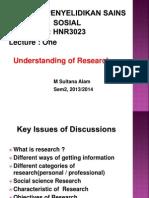 kajian penyelidikan sains sosial