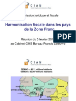 Harmonisation Fiscale UEMOA