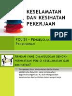 5 - POLICY - Organisation & Arrangement