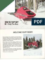 1975 Rupp Fa Nitro Owners Manual