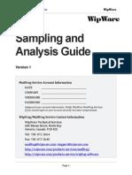 Sampling and Analysis Guide