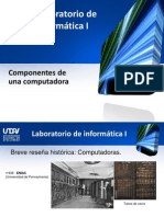 Unidad I - Componentes de Una Computadora