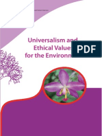 Universalism and Ethical Values for the Environment