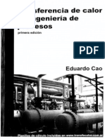 Transferencia de Calor en Ingenieria de Procesos Eduardo Cao