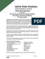Quantitative Data Analysis Outline