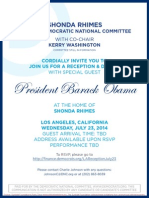 Reception and Dinner for Democratic National Committee
