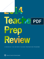 NCTQ 2014 Teacher Prep Report