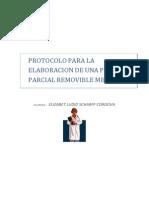 Protocolo Para La Elaboracion de Una Protesis Parcial Removible Metalica