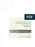 Pt. Molate Public Health Impacts 9-21-09