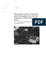 Petrographic Analysis of Igneous