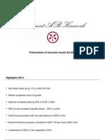 140214 Kinnevik Results Presentation Q4 2013