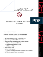 Investor Presentation Kinnevik Q2 2013
