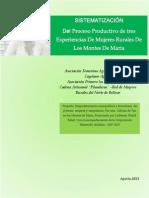 Sistematización Experiencias productivas de Mujeres rurales