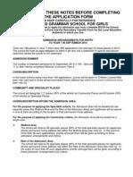 Watford Grammar School Admission Criteria