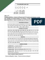Coeficientes de Normalizacion EJES