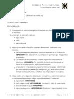 Química - Sistemas Materiales - Cuestionario