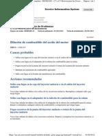 Dilución de Combustible Del Aceite Del Motor