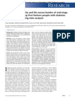 First Nation  Adult Diabetes Study Comparison