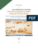Comentarios Lingüísticos y Polimecánicos