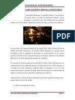 Indicadores de Gestión Minera Sostenible