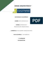 Metodología y Programación Arquitectónica. Proyecto Colegio. Sofía González Silva. 1° Cuatrimestre.