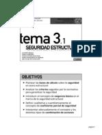 Tema 3-1 - Seguridad Estructural