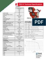 FR311V Technical Specifications