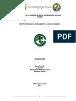 Plan Para La Gestion Intgral de Residuos Solidos