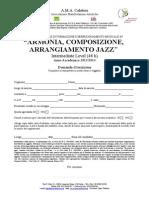 Domanda Iscrizione Corso Jazz