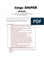 All Things Sniper