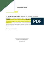 Carta Poder Simple . Modelo