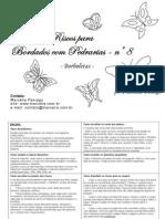 Marcelia_Paniago - Riiscos para bordado em pedraria A8 - borboletas