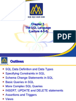 Chapter 3 the SQL Language (Lecture 4-5-6)