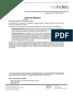 Indicadores Socioeconómicos - 1 Trim - 2014